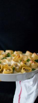 Paccheri al forno con funghi e ricotta per Taste&More n. 17
