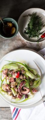 #notrivSEAfood Insalata di polpo, puntarelle e olive taggiasche