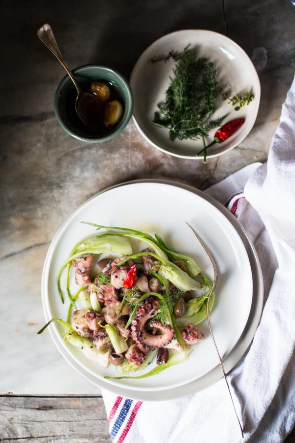 Insalata di polpo catalogna e olive taggiasche