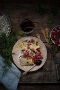 Crêpes dolci con frutta fresca