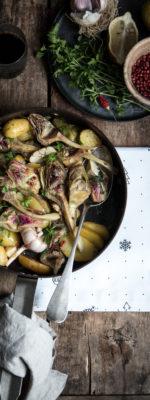 Carciofi e patate in padella!